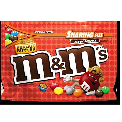 M&M's beurre de cacahuète sachet énorme (272g)