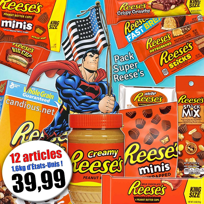 Pack Super Reese's 12 articles (1581g)