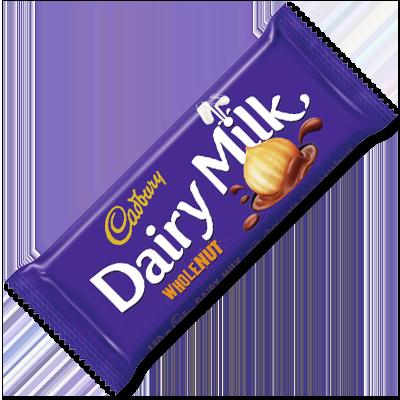 "Cadbury ""Dairy Milk Whole Nut"" en tablette (200g)"