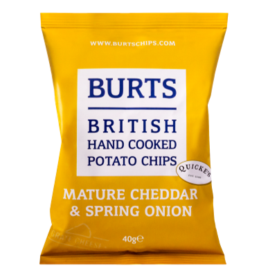 "Burts Hand Cooked Crisps ""Cheddar & Onion"" (150g)"
