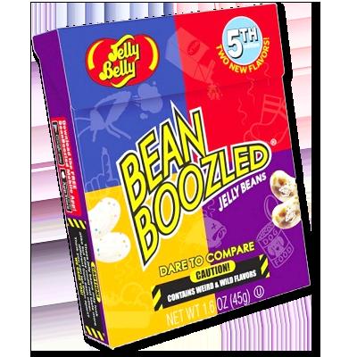 """Vous connaissez le principe de la marque Bean Boozled ? 20 saveurs en tout, 10 délicieuses et 10 absolument terrifiantes. Aucun moyen de distinguer les deux. Les américains adorent utiliser ces fèves à la gelée sucrées pour faire des jeux ou des """"challenges"""" afin d'égayer leurs soirées entre amis :)"""