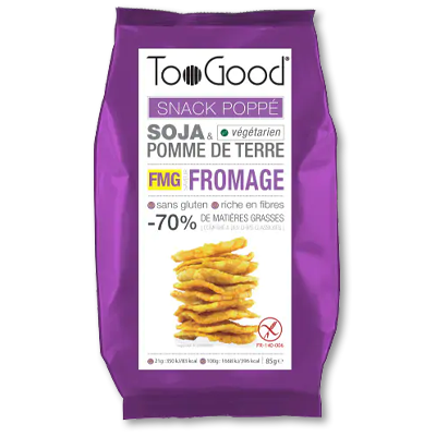 """TooGood snack """"poppé"""" fromage (85g)"""