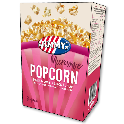 Jimmy's USA Microwave Sweet Popcorn (270g)