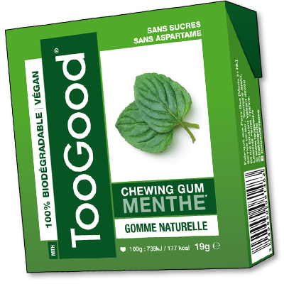 TooGood chewing-gums à la menthe (19g)