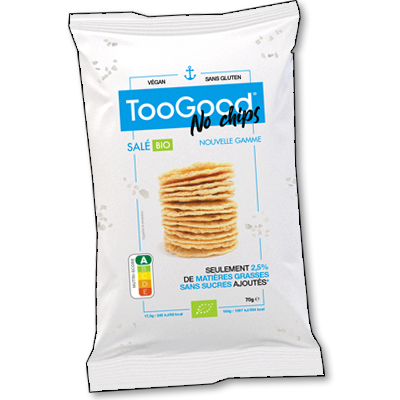 """Sans gluten, sans friture, les """"No Chips"""" de la marque TooGood vous font redécouvrir l'apéritif (ou tout autre moment gourmand !) à travers cette recette aussi intense que légère à base de pommes de terre."""