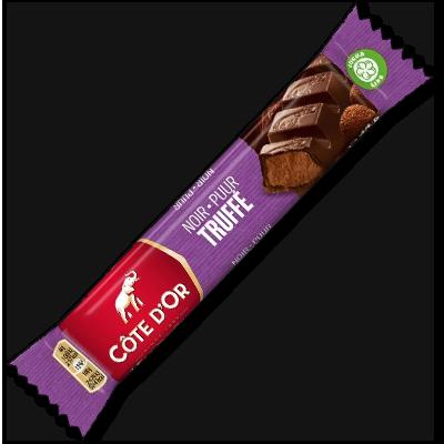 Toute la puissance du chocolat noir croquant cède la place à la mousse saveur truffe de chocolat au cours de chaque bouchée de cette barre Côte d'Or. Pour les fins connaisseurs !