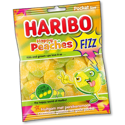 Haribo Happy Peaches Fizz (70g)