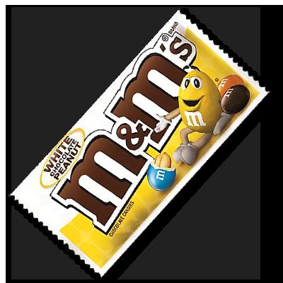 """M&M's """"White"""" avec cacahuètes (39g)"""