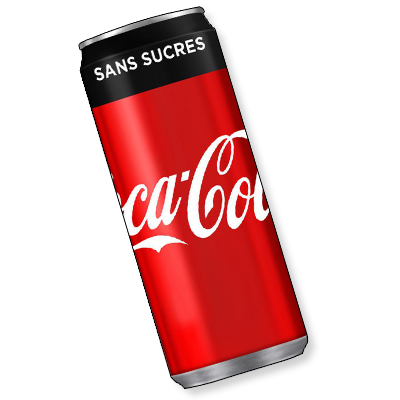 Coca-Cola sans sucres (330ml)