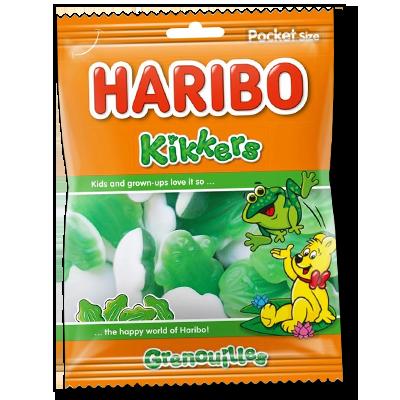 Les adorables grenouilles Kikkers de la marque haribo apporteront douceur et bonne humeur à votre journée. Un produit particulièrement apprécié des petits pour les fêtes et anniversaires.