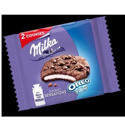 """Cookies Milka """"Sensation"""" fourrage Oreo (52g)"""