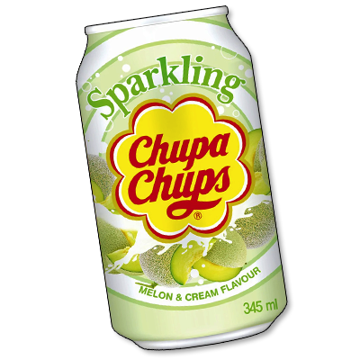 "Chupa Chups soda ""Melon & Cream"" (345ml)"
