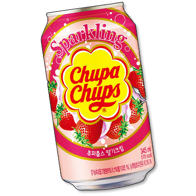 "Chupa Chups soda ""Strawberry & Cream"" (345ml)"