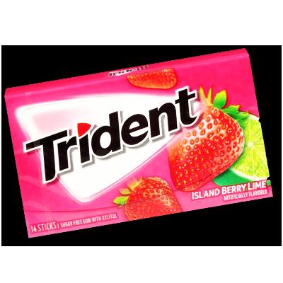 "Trident ""Island Berry Lime"" Sugar-free (27g)"