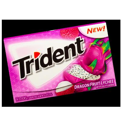 """Trident """"Dragon Fruit & Lychee"""" Sugar-free (27g)"""