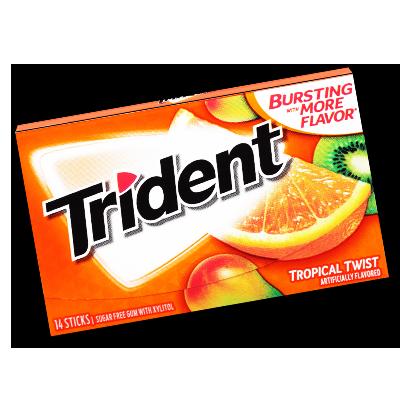"""Trident """"Tropical Twist"""" Sugar-free (27g)"""