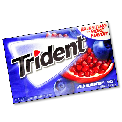 """Trident """"Wild Blueberry"""" Sugar-free (27g)"""