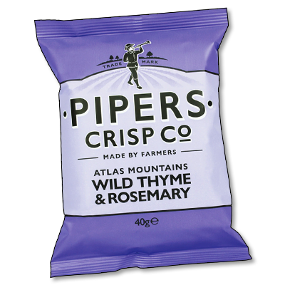 """Pipers Crisps """"Wild Thyme & Rosemary"""" (40g)"""