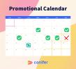 Template for livestream promotional calendar