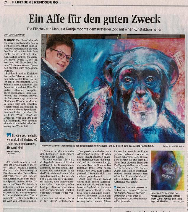 Spende für den Krefelder Zoo`s aus der Verlosung