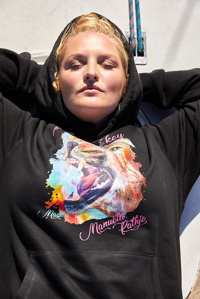 Hoodie - Frauen - Schwarz Madiba
