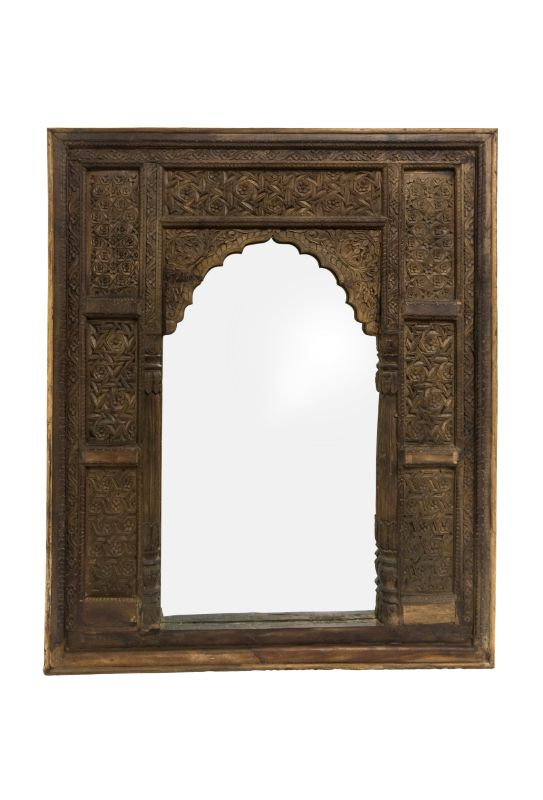 Wooden Mirror Frame Jharokha