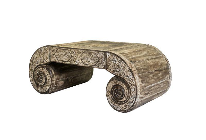 Mesa de centro en maderaTimor whitewash