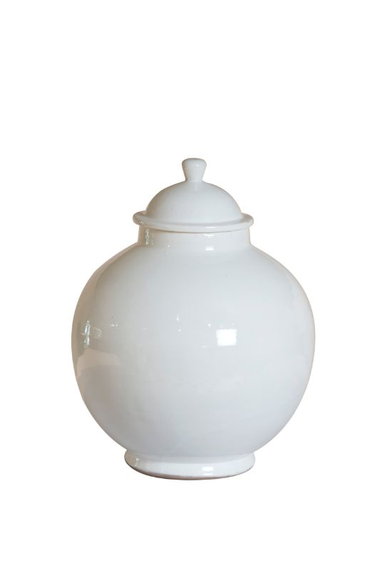 Ceramic container with lid, 32 Cms.