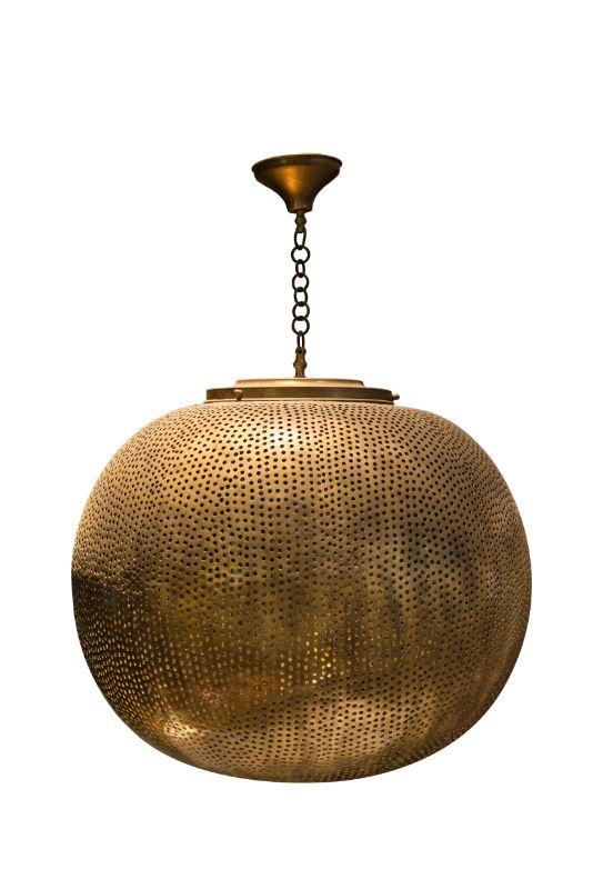 Lámpara de colgar tradicional Marroquí en bronce