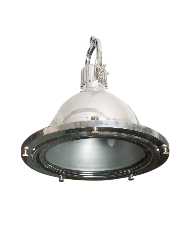 Lámpara de colgar industrial en acero inoxidable