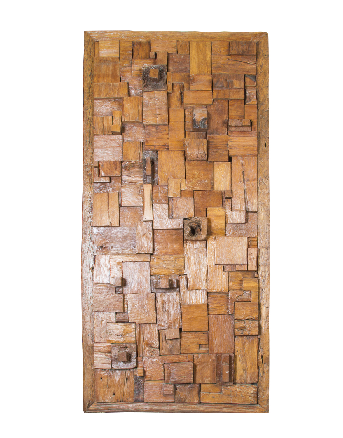 Recycled wood panel