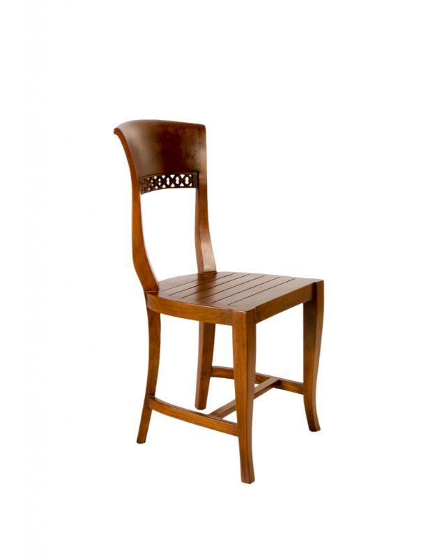 Dining chair in teak wood
