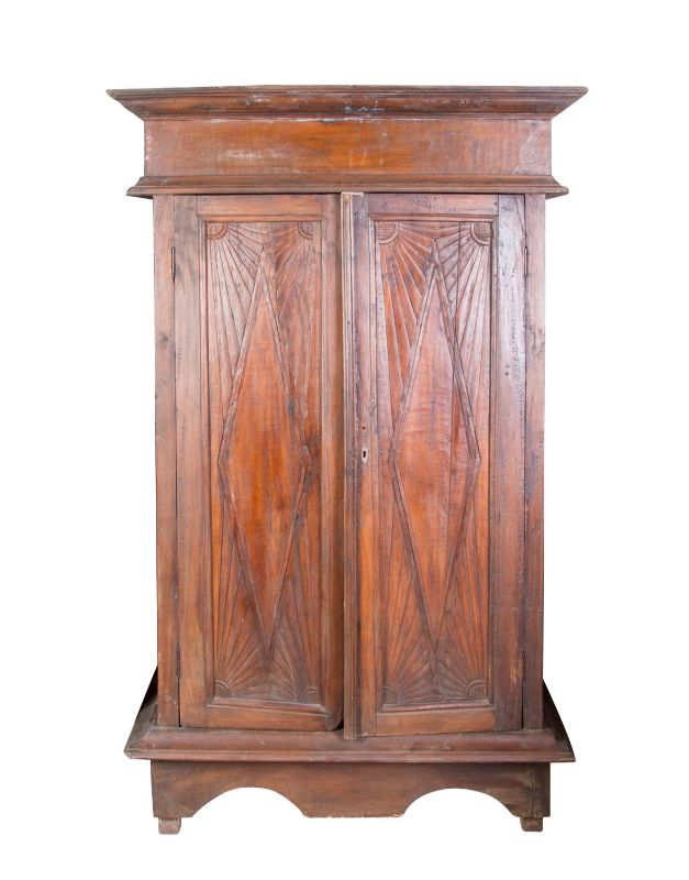 Indonesian wooden cabinet with diamond design