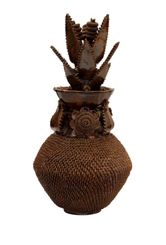 Piña ornamental Michoacan café, 43 Cm