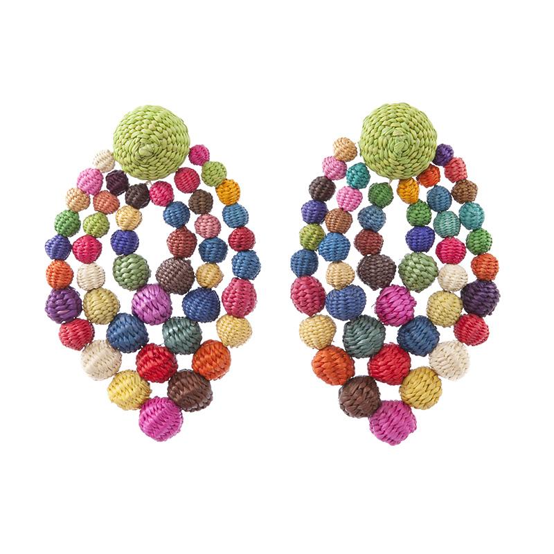 Earrings Rhombus # 1 Multicolor