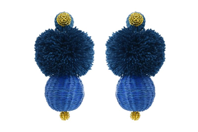 Arete Frufru Azul Rey
