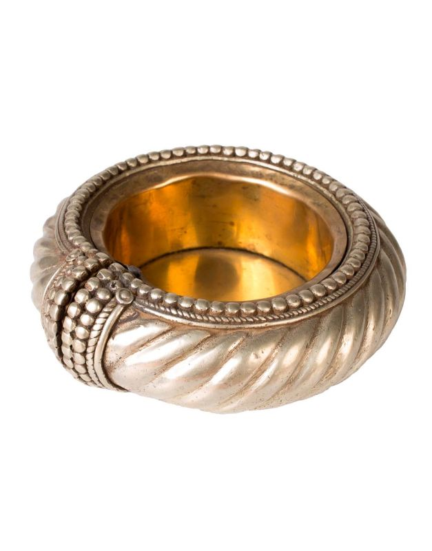 Silver India ashtray