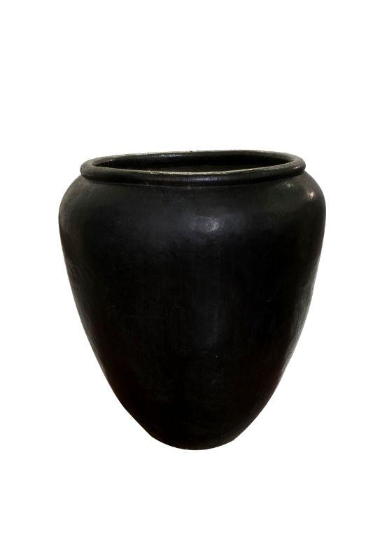 Black earthenware jar