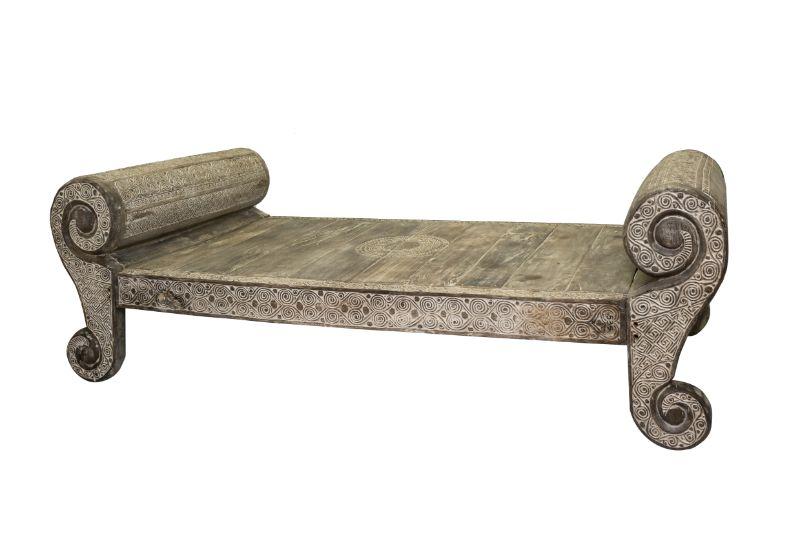 Sofa bed Timor carved, 258 Cm