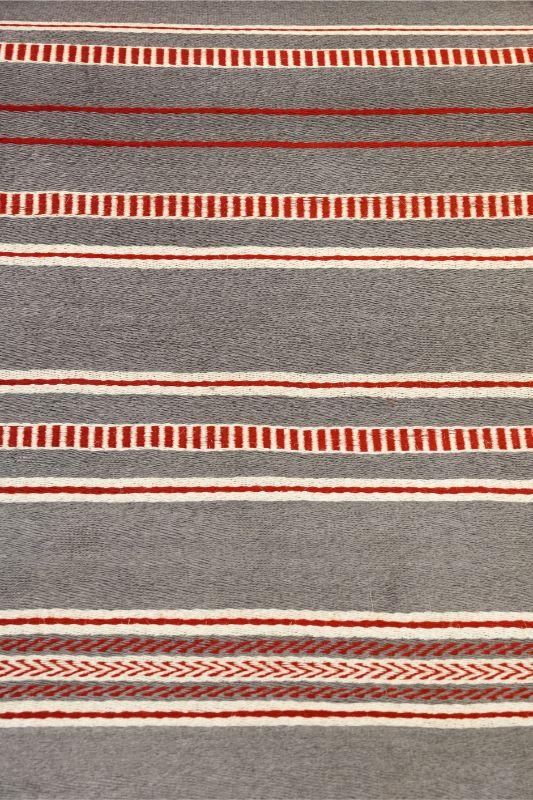 Tapete rectangular Hechizoo, gris- rojo