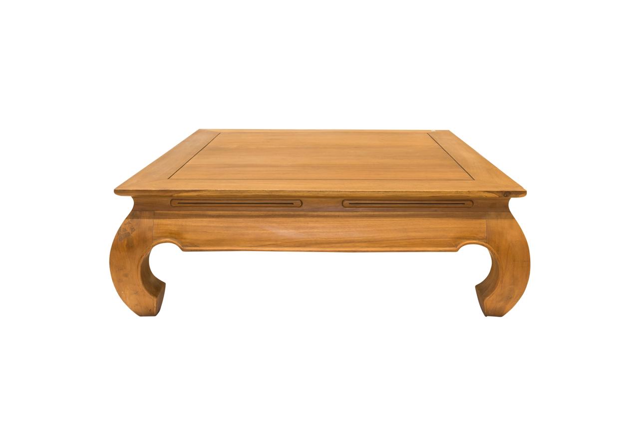 Wooden coffee table Opium design 100 Cm