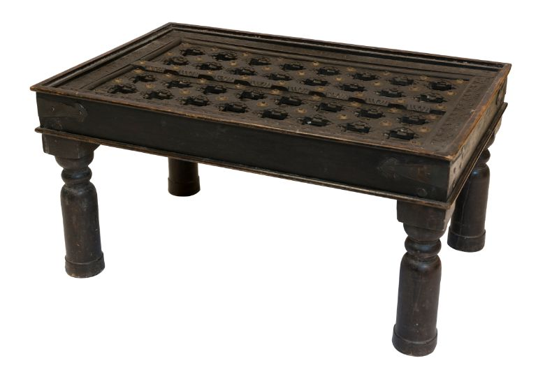 Antique Indian wooden side table