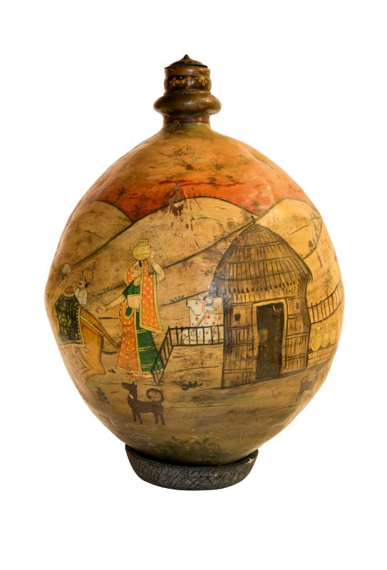 Indian leather vase