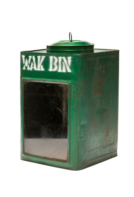 Lantern in metal Green
