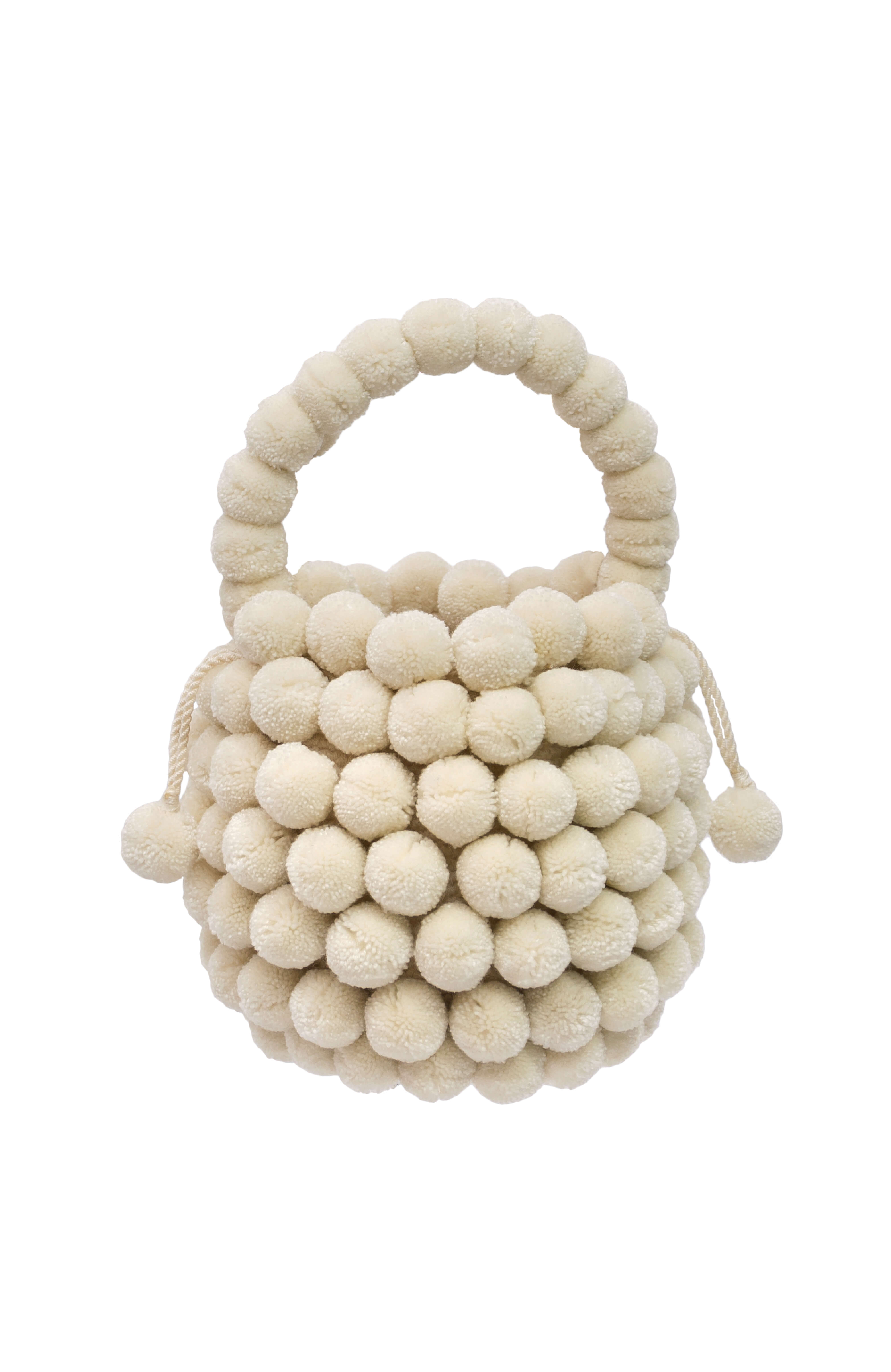 Mochila Multi-Pompom off-white