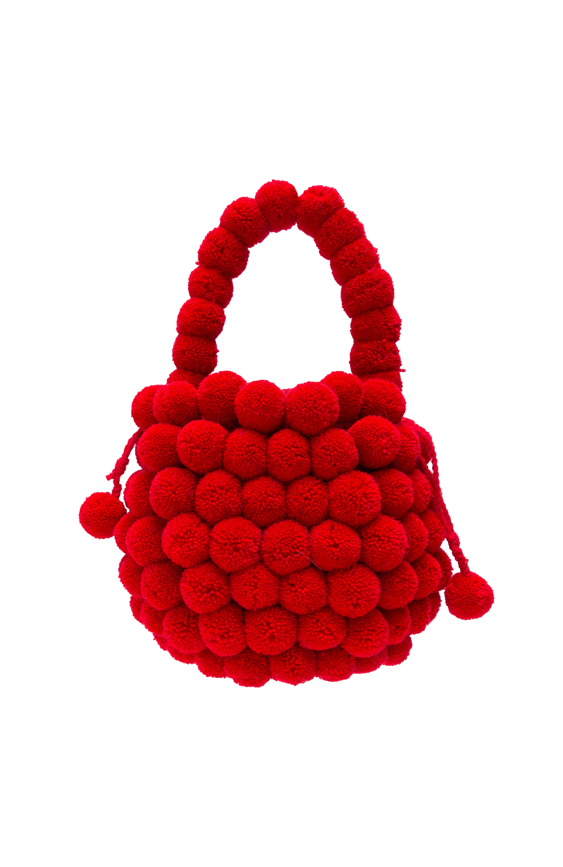 Mochila Multi-Pompom roja