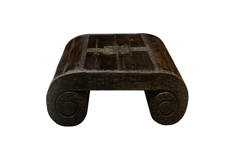 Coffee table in black Timor wood