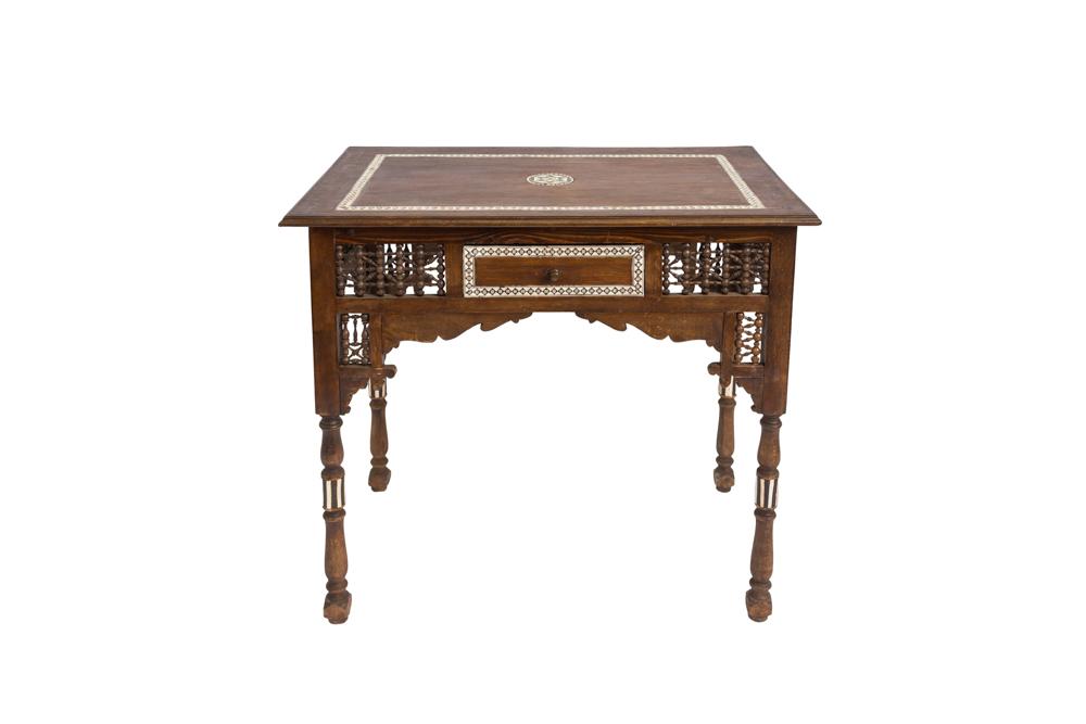 Moroccan wooden desk