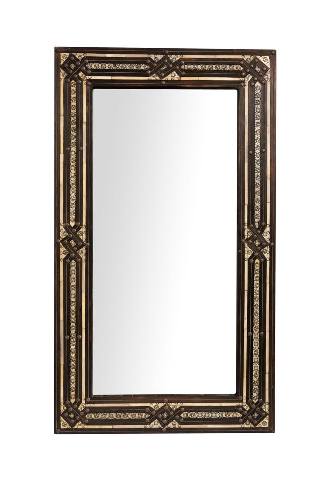 Moroccan Rectangular Mirror Brown Frame