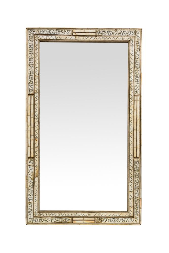Moroccan Rectangular Mirror White Frame